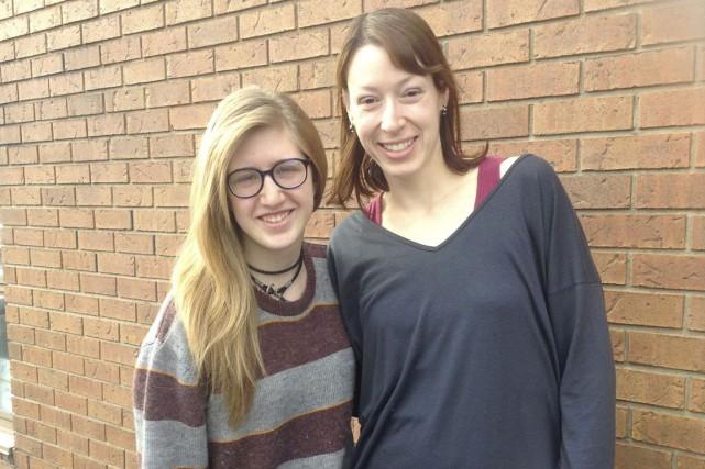 Rebecca Prévost et sa «grande soeur» Christine Moreau... (Courtoisie)