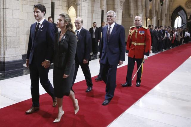 Les libéraux de Justin Trudeau ont tracé les... (Blair Gable, AFP)