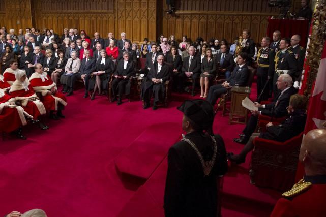 Le court texte lu vendredi par le gouverneur... (La Presse Canadienne, Sean Kilpatrick)
