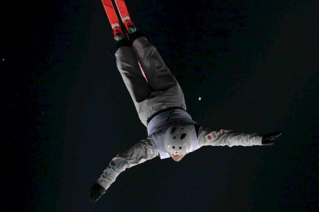 Le skieur acrobatique Olivier Rochon est enfin en... (Ivan Sekretarev, Archives AP)