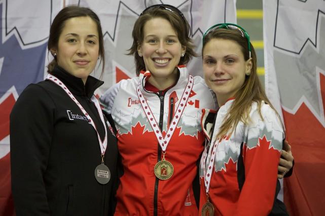 Les trois patineuses de la région, soit la... (Archives)