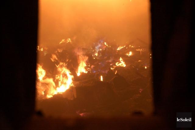 En 2013, l'incinérateur municipal de Québec a brûlé... (Photothèque Le Soleil)