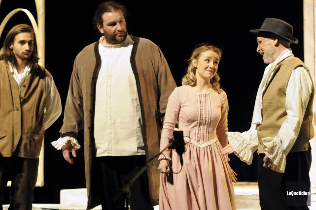 Parmi les artisans de l'opéra Werther qui se... (Photo Le Quotidien, Mariane L. St-Gelais)