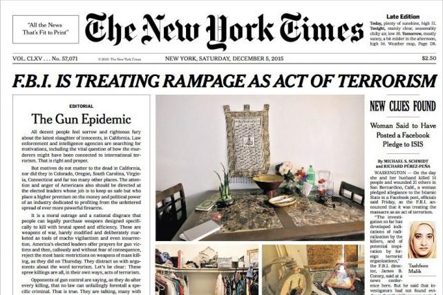 LeNew York Timesavait publié son dernier éditorial de... (Tirée du site Web du New York Times)