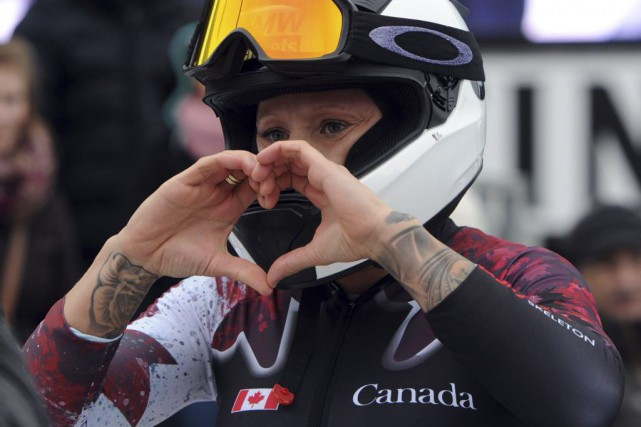 Kaillie Humphries... (PHOTO CAROLINE SEIDEL, AFP)