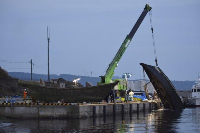Depuis octobre, les garde-côtes japonais ont repéré au... (AFP)