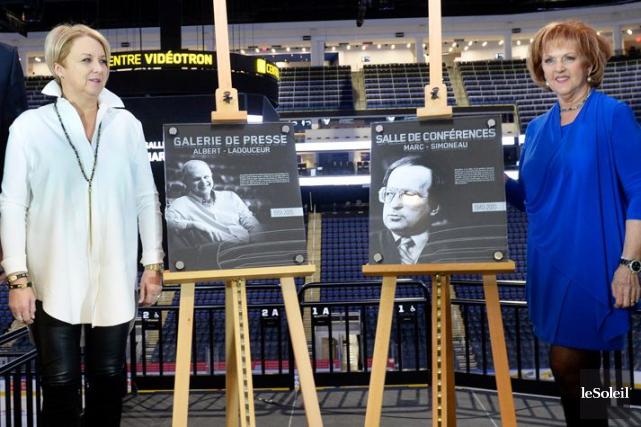 Les veuves des journalistes honorés, Céline Beaudet et... (Le Soleil, Jean-Marie Villeneuve)