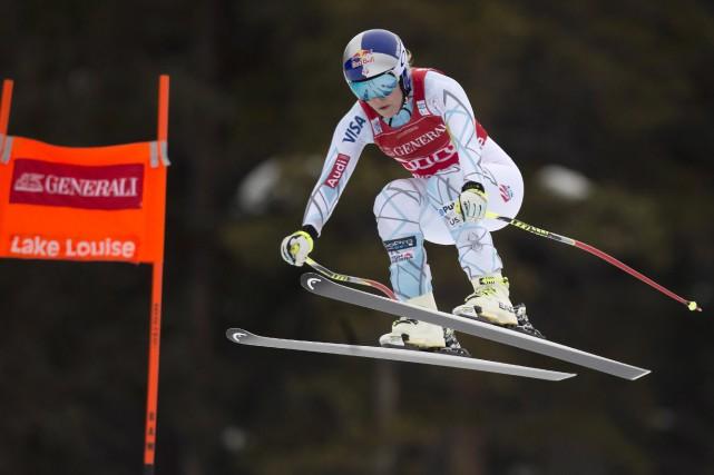 Lindsey Vonn a remporté une deuxième descente en... (La Presse Canadienne, Frank Gunn)