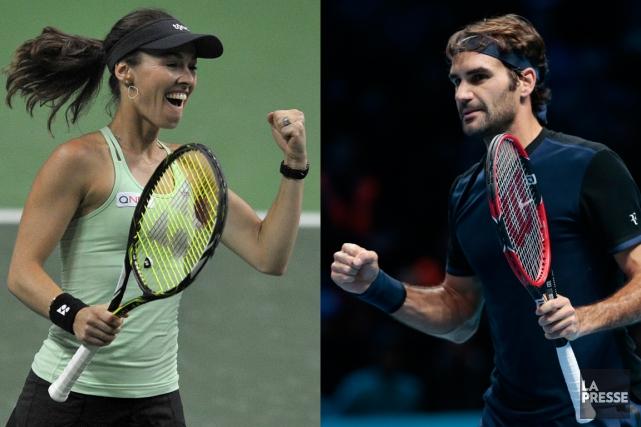 Martina Hingis etRoger Federer feront équipeen double mixte... (PHOTOMONTAGE LA PRESSE)
