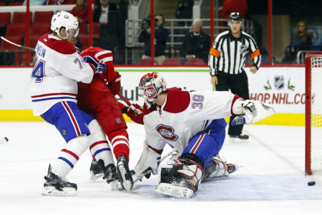 Le Canadien s'est incliné face aux Hurricanes, samedi... (PHOTO JAMES GUILLORY, USA TODAY)