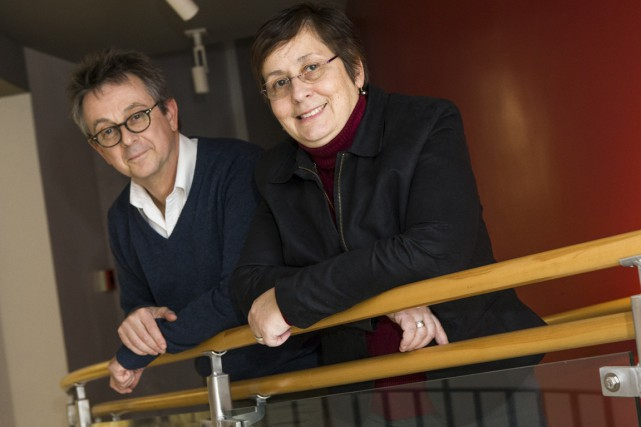 Bernard Michallet et Colette Jordan-Ionescu, respectivement directeur du... (Olivier Croteau)