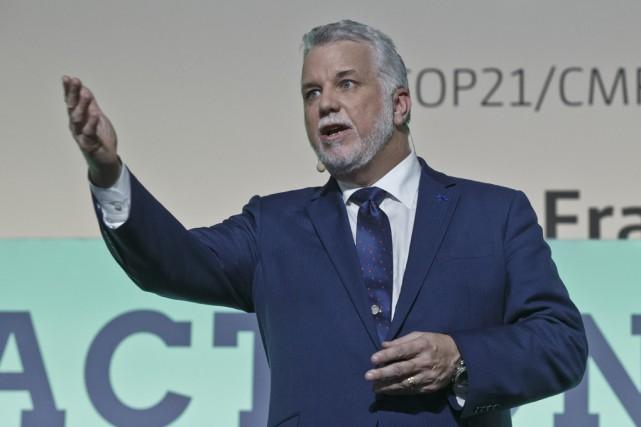Le premier ministre québécois, Philippe Couillard, prédit la... (Associated Press)
