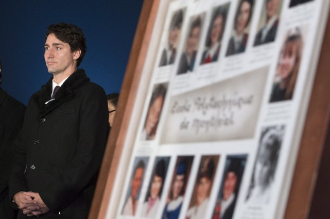Justin Trudeau participe à une cérémonie pour rendre... (La Presse Canadienne)