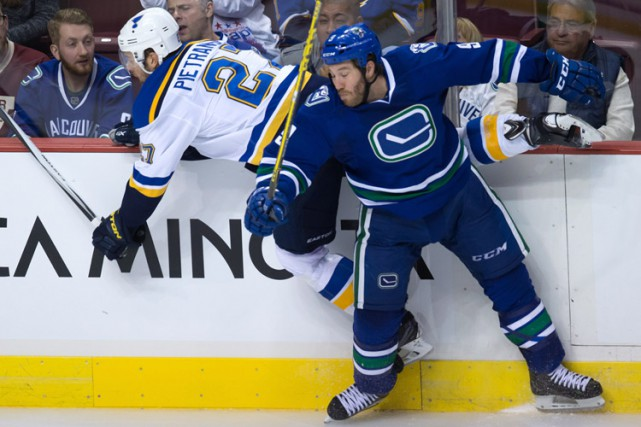 Brandon Prust lors d'un match contre les Blues,... (PHOTO AP)
