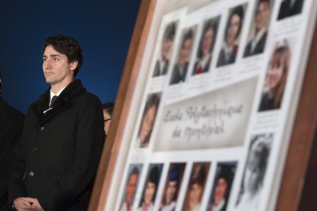 Justin Trudeau a participé à une courte cérémonie... (La Presse Canadienne)