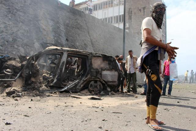 Le chef des forces de sécurité à Aden... (PHOTO AFP)