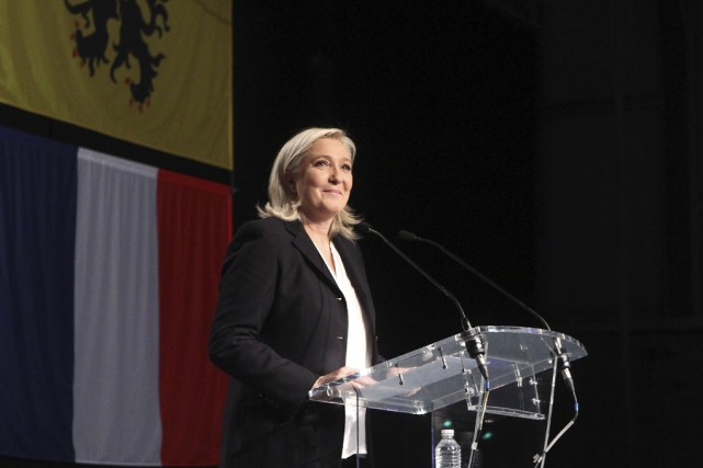 Mené par Marine Le Pen, le Front national... (Associated Press)