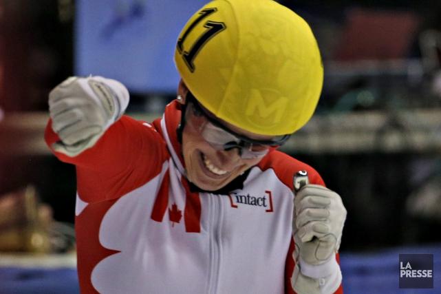 Marianne Saint-Gelais a remporté une médaille d'argent au... (Archives La Presse)