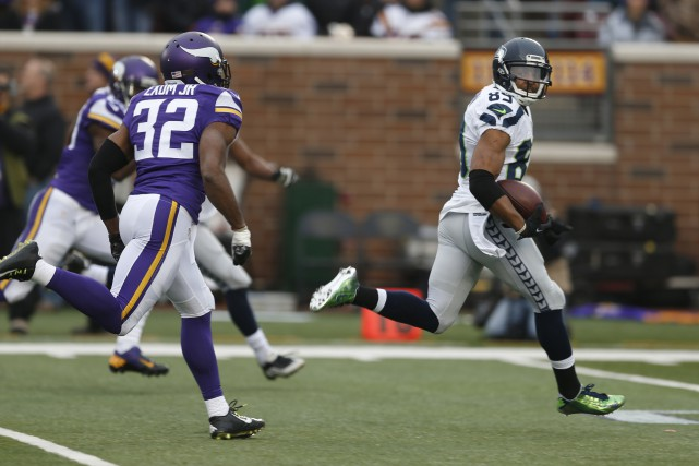 Doug Baldwin a capté des passes de touché... (Photo Associated Press)