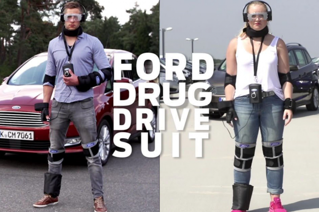 Le «Costume de drogué Ford» est une combinaison censée... (Photo fournie par Ford Europe)