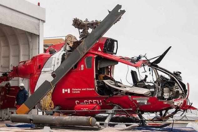L'hélicoptère avait quitté leNGCC Amundsenpour faire un vol... (Fournie par le BST)