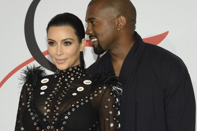 Kim Kardashian et Kanye West... (Photo Evan Agostini, archives AP)