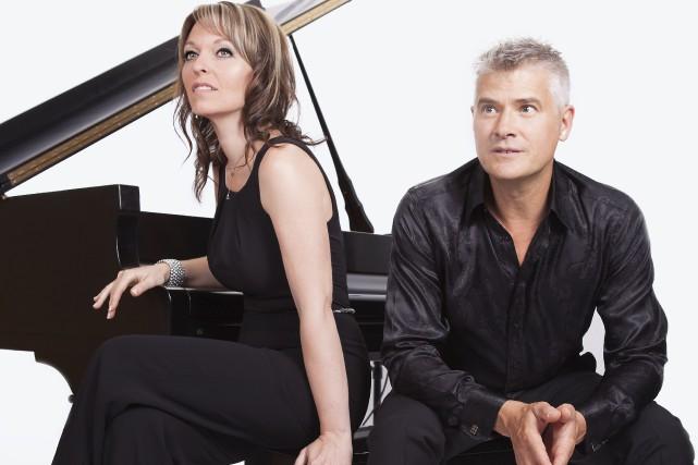 La chanteuse Mélane et le pianiste Michel Desjardins... (Photo fournie)