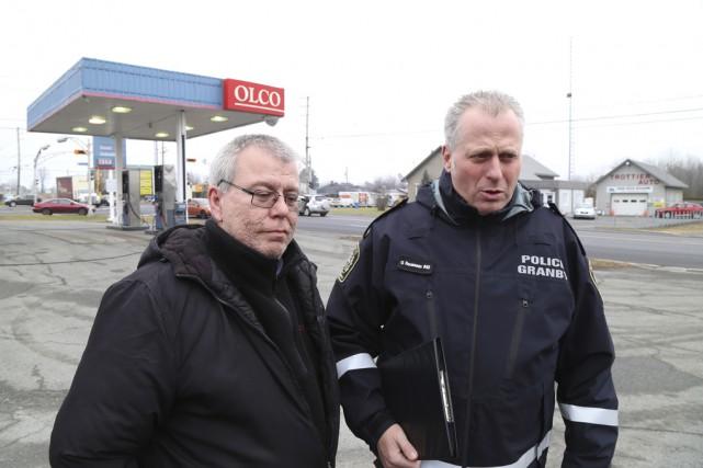 Sylvain Boisvert, victime de l'agression, et Guy Rousseau,... (photo Janick Marois)