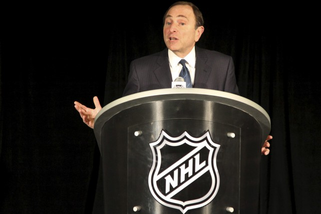Le commissaire Gary Bettman.... (Associated Press)
