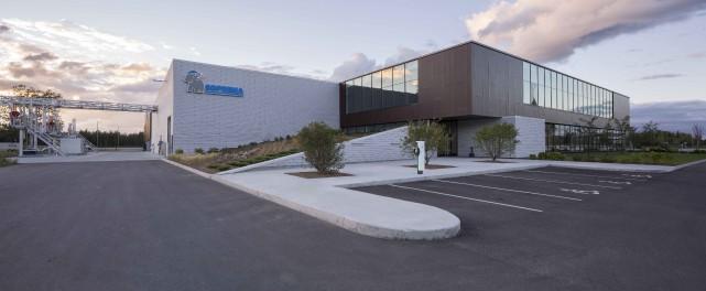 La nouvelle usine de Soprema, située à l'angle... (Photo fournie)