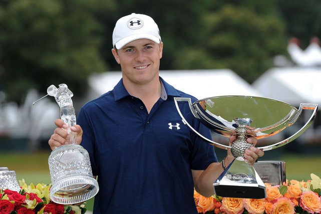 Jordan Spieth a remporté cinq titres dont deux... (Archives, Associated Press)