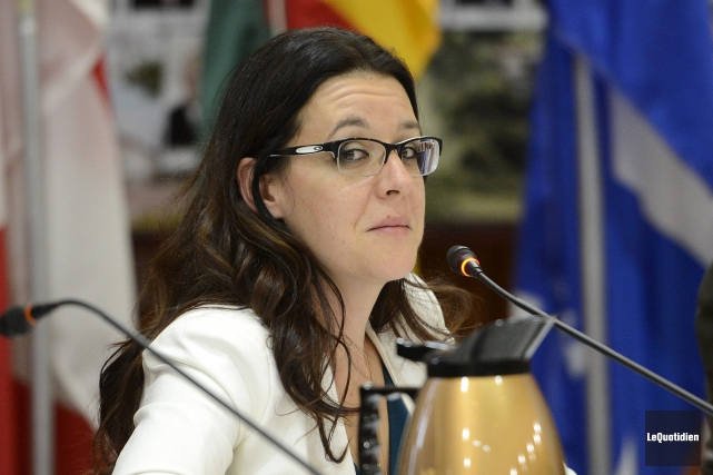 La conseillère Julie Dufour.... (Photo Le Quotidien, Jeannot Lévesque)