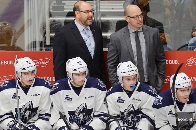 Serge Beausoleil (à droite), directeur général et entraîneur-chef... (Photothèque Le Soleil, Pascal Ratthé)