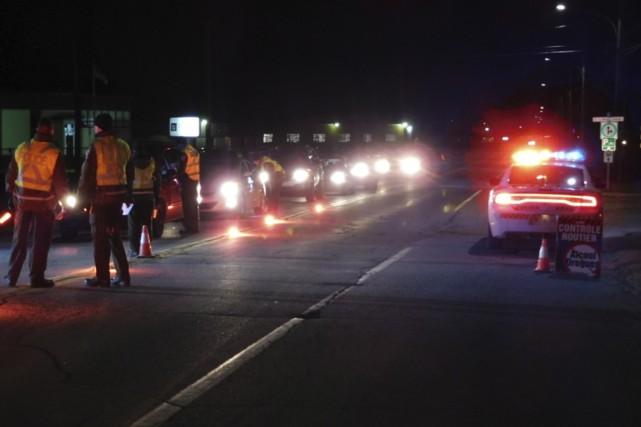 Quelque 600 conducteurs ont été vérifiés par les... (fournie par la Sûreté du Québec)