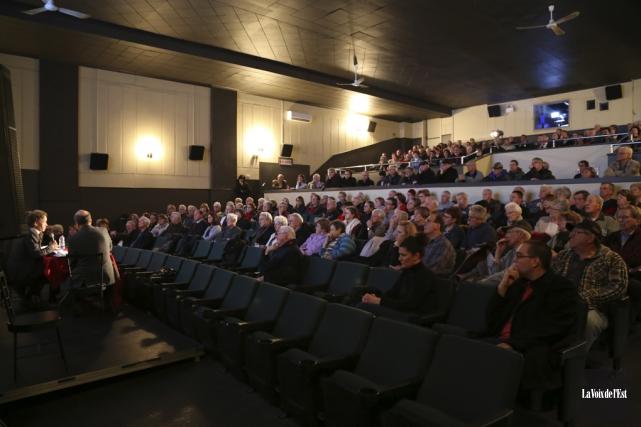 La salle 1 du Cinéma Princesse, à Cowansville,... (Janick Marois, La Voix de l'Est)