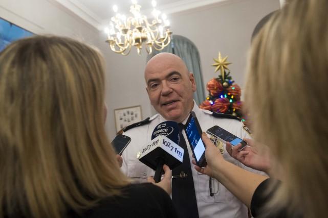 Le directeur du Service de police de Sherbrooke,... (Spectre Média, Julien Chamberland)