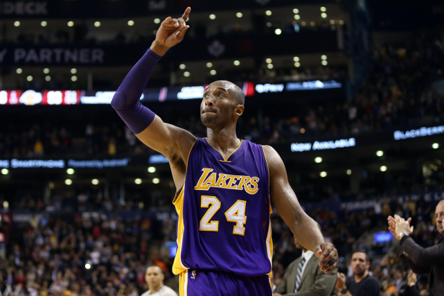 À son dernier match à Toronto, Kobe Bryant a... (Photo Tom Szczerbowski, USA Today)