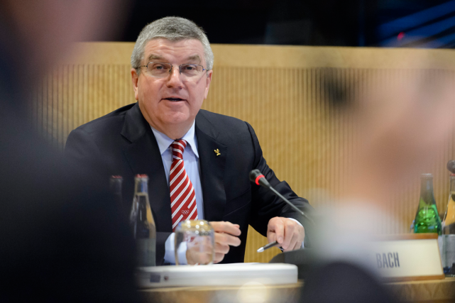 Le président du Comité international olympique, Thomas Bach.... (Photo Laurent Gillieron, AP)