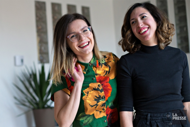 Les cofondatrices de l'atelier Catherine Catherine: Catherine Breton-Potvin,... (PHOTO OLIVIER JEAN, LA PRESSE)