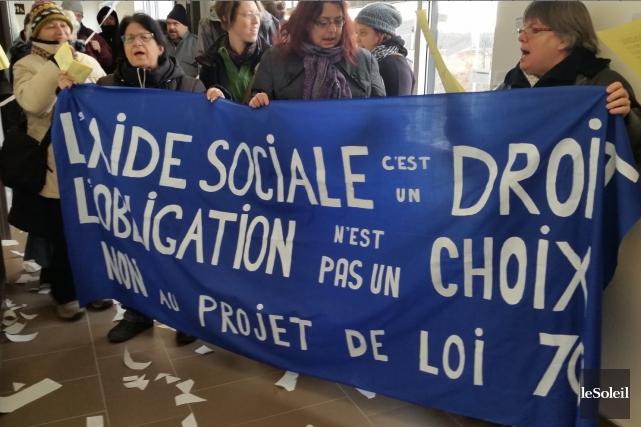 L'Association de défense des droits sociaux de la... (Photothèque Le Soleil)