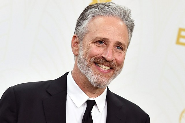 Jon Stewart aux Emmy Awards en septembre dernier.... (PHOTO ARCHIVES AP)
