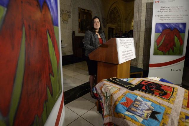 La ministre fédérale de la Justice, Jody Wilson-Raybould... (Photo Adrian Wyld, La Presse Canadienne)