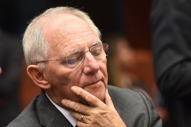 Le ministre des Finances allemand, Wolfgang Schäuble... (PHOTO EMMANUEL DUNAND, AFP)