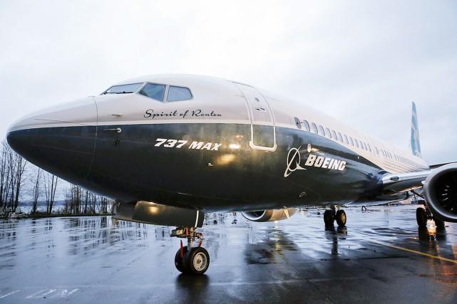 Le premier exemplaire du Boeing 737 MAX, baptisé... (AFP, Jason Redmond)