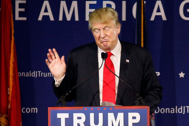 Même si chez Donald Trump, une déclaration intempestive... (AP, Mic Smith)