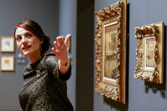 Katerina Atanassova, conservatrice de l'espace Art canadien et... (Patrick Woodbury)