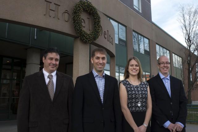 Les quatre nouveaux propriétaires du complexe Delta: Steve... (Stéphane Lessard)