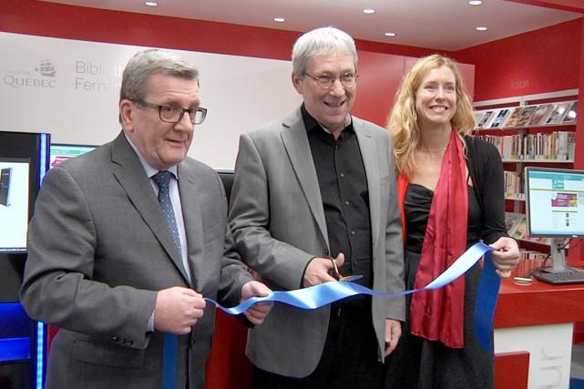 La Ville de Québec a inauguré la bibliothèque... (Capture d'écran, Nicolas Perron Drolet)