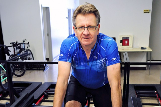 Rencontré durant une séance d'entraînement intérieur chez Vélo... (Collaboration spéciale Jean-Sébastien Massicotte)