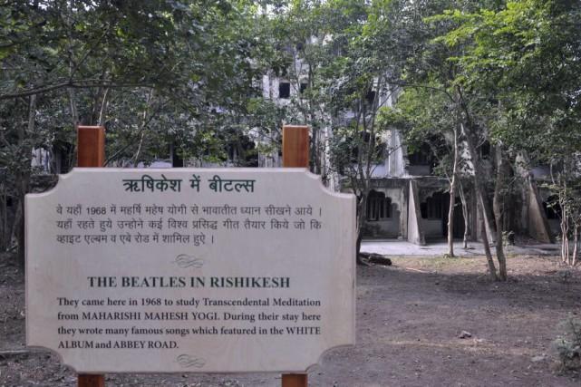 Les Beatles ont résidé dans l'ashram en 1968... (PHOTO AFP)